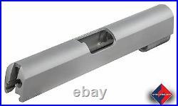 1911 Slide, Commander, 9mm/38 Super, Bar Stock Carbon Bald, Mono/Slab