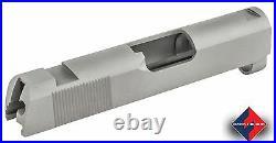 1911 Slide, Defender, 9mm/38Super Carbon, Dovetail Sight Cuts, Rear Serrations