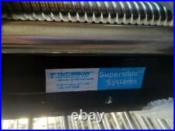 46 Thompson Superslide System Linear Rail with Baffle Covers Ground Ballscrew
