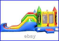 5in1 Super Combo Crayon Inflatable Bounce House & Slide CO2156