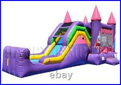 5in1 Super Combo Princess Wet & Dry Inflatable Bounce Slide CO2154