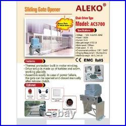 ALEKO Sliding Gate Opener For Super Heavy Gates Up To 100-ft 5700-lb Basic Kit