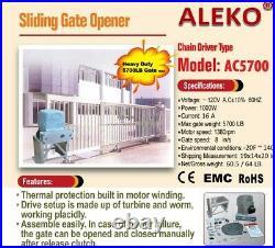 ALEKO Sliding Gate Opener For Super Heavy Gates Up To 100 ft 5700 lb Basic Kit