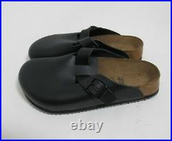 Birkenstock Boston Super Crip Leather Clogs Black Size 6 US L / 4 US M / 37 EU