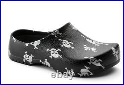 Birkenstock Mens Super Birki Black Skulls Comfort Slip On Slippers Clogs 068611