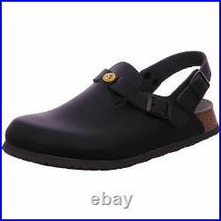 Birkenstock Tokio Tokyo Leather Work Shoes Clogs Super Grip Sandals Black ESD na