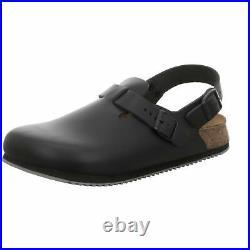 Birkenstock Tokio Tokyo Leather Work Shoes Clogs Super Grip Sandals Black narrow