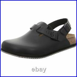 Birkenstock Tokio Tokyo Leather Work Shoes Clogs Super Grip Sandals Black regula