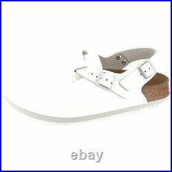 Birkenstock Tokio Tokyo Leather Work Shoes Clogs Super Grip Sandals White regula