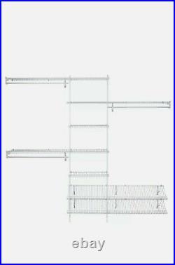 ClosetMaid Ventilated Wire Steel Closet System Organizer Kit SuperSlide