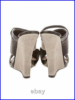 Gorgeous, Super Rare, New $950 Narciso Rodriguez Crossover Slide Wedges