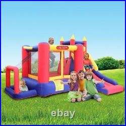 Inflatable Bounce House Kids Super Slide Jumper Castle Air Blower with Carry Bag
