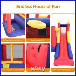 Inflatable Bounce House Super Slide Kids Jumper Castle Blower Home Garden Yard