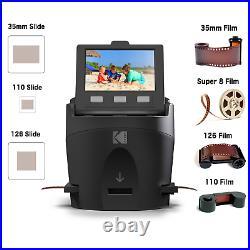 KODAK SCANZA Digital Film & Slide Scanner Converts 35mm, 126, 110, Super 8 & &