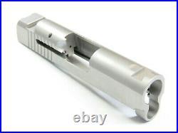 MATTE STAINLESS 1911 Slide for 3.25 Bull Barrel. 38 Super 38 / 9mm BLEM DEAL