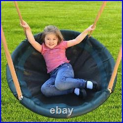 Metal Swing Set Super Disc Wave Slide Safe Landing Zone Easy Assembly Kids New