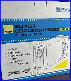 NEW. Never Used! Nikon Super CoolScan 5000 ED Scanner with Slide Feeder SF-210