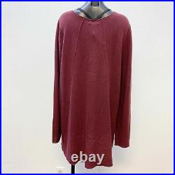 NWT Eileen Fisher Wine Blouse Pullover Sweater Swoop Neck Size 3X