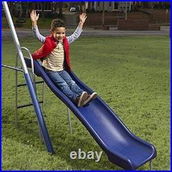 New Swing Set, Steel Frame, Swing Seats, See-Saw, Super Disc Swing, Wave Slide
