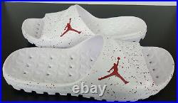 Nike Air Jordan Super Fly Sandals Slides White Team Red Rare New (size 16)
