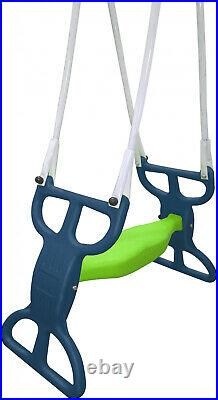 Playground Metal Swing Set Glider Slide Super Disc Back Yard Fun Outdoors NEW