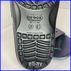 SUPER RARE Classic Crocs Iridescent Slides 206615-001 Mens 9 / Wmns 11