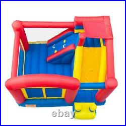 SuperSlide Inflatable Bounce House Castle Backyard Jumper Bouncer With 480W Blower