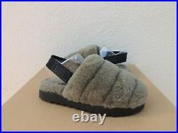 Ugg Burnt Olive Super Fluff Slide Sheepskin Slippers, Women Us 8/ Eur 39 New