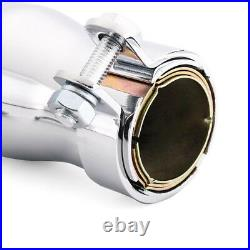 Universal 50cm Motorcycle Cafe Racer Exhaust Pipe with Sliding Bracket & Sleeves