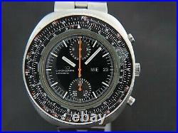 VTGE SUPER RARE NOS SEIKO PILOT SLIDE RULER 6138 7000 AUTOMATIC CHRONOGRAPH. 70s