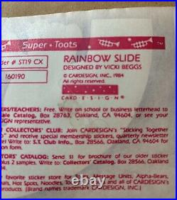 Vintage 1980s Super Toots Rainbow Slide Teddy Bear Sticker