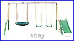 XDP Recreation Super Metal Swing Set with UFO Saucer Swing and Slide NEW